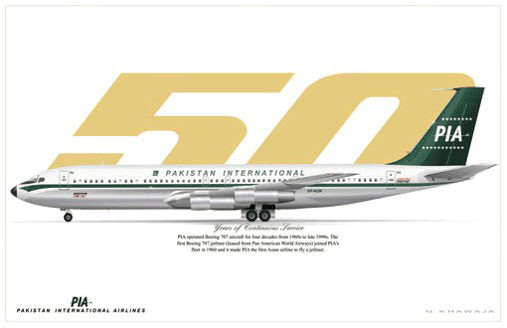 PIA Boeing 707-340C Poster