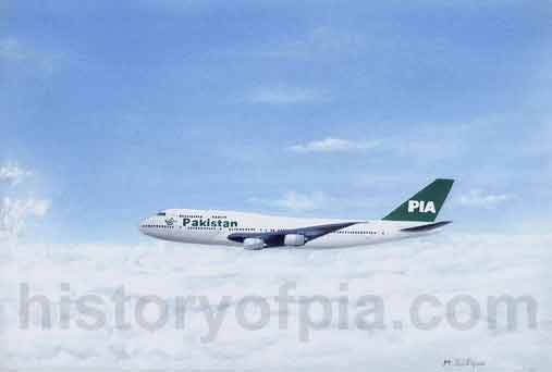 PIA Boeing 747-367 painting