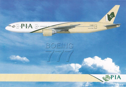 PIA Boeing 777 invitation card