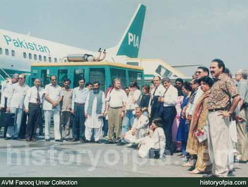 PIA Boeing 737-340 Inaugural Air Safari Flight