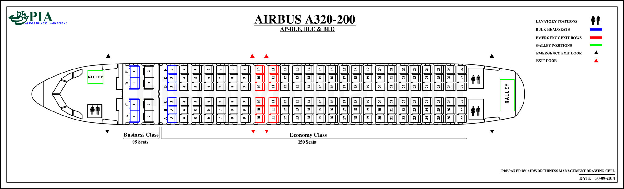 Pia Aircraft Seat Maps History Of Pia Forum