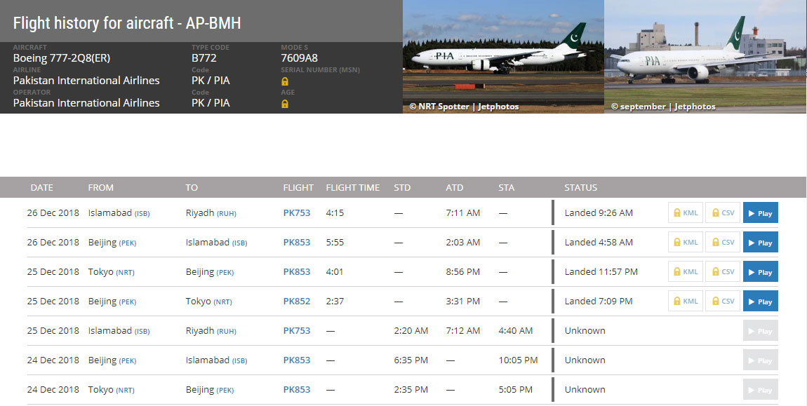 Delay Suffered by Tokyo-bound PIA Flight Due to Technical