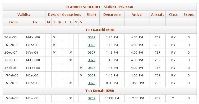 pia airline seat reservation