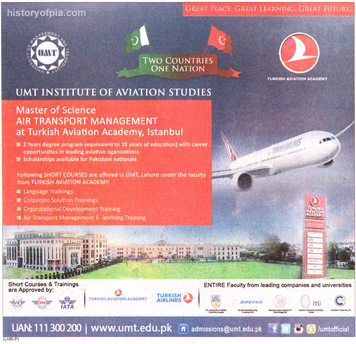 UMT - Turkish Aviation Academy Degree Program & Short