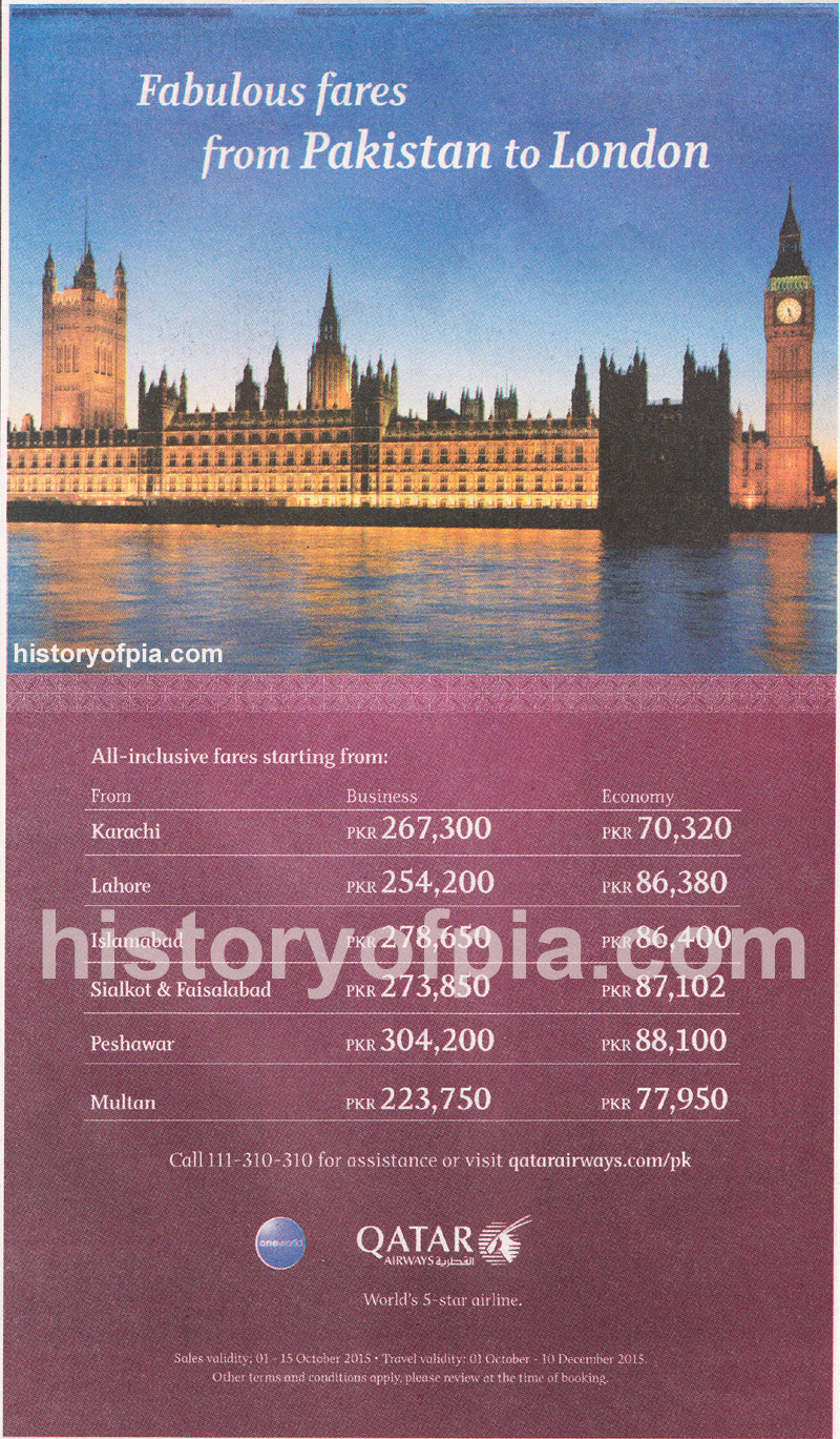 Re Fabulous Fares From Pakistan To London
