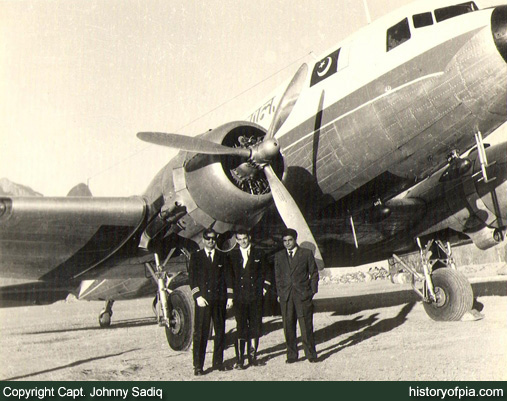 PIA DC-3 at Gilgit