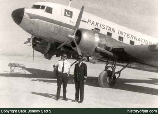 PIA DC-3 at Pasni