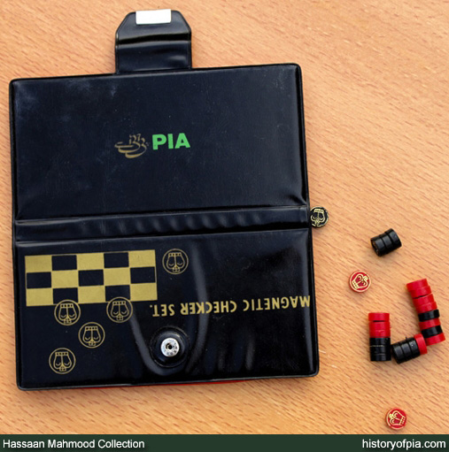 PIA Checkers Magnetic Board Game