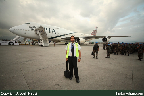First Officer Aroosh Naqvi