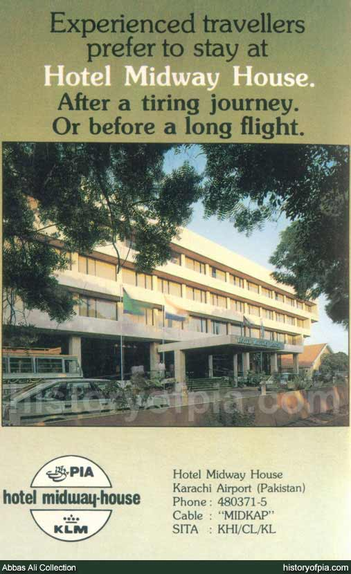 PIA-KLM Hotel Midway House Advertisement