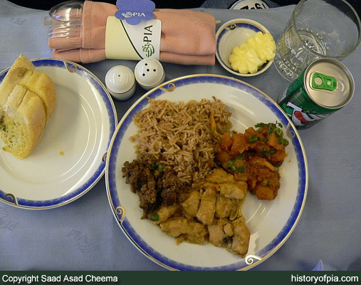 PIA Business Class meal